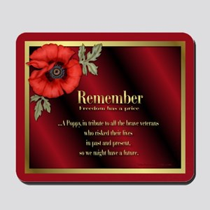 Remember Poppy Mousepad